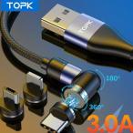 TOPK iphone 4点セット 3A急速充電 USB Type-Cケーブル 長さ1m Type-C USB iPhone android アンドロイド データ転送 Type Cケーブル 充電ケーブル