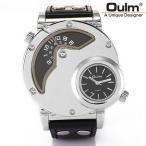 2フェイス腕時計 メンズ腕時計 ビッグフェイス仕様 クオーツ FASHION腕時計 メンズ ラウンド オシャレ シンプルカジュアル ビジュアル シルバー