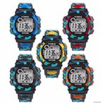 腕時計 スポーツ 子供用腕時計 LED7色 デジタル スポーツウォッチ 男の子 女の子 小学生 低学年 小学校 キッズ 卒業 入学 進学