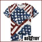 正規品 BEAST U.S. Flag B T_Red T-シャツ 半袖 夏 メンズ レディース オリジナル Tシャツ 半袖Tシャツ 韓国 1811182 43