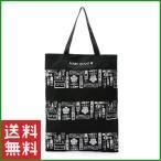 MARY QUANT(マリークヮント)ブラック&ホワイト 薄手トートバッグ おしゃれ 可愛い マリクワ レディース