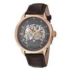 ショッピング円高還元 海外セレクション 腕時計 Stuhrling Original 133 3345K54 メンズ Executive Date ブラウン レザー 腕時計
