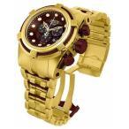 ショッピング円高還元 海外セレクション 腕時計 Invicta 12740 メンズ Bolt Reserve クロノグラフ ブラウン ダイヤル ゴールド Ion-プレート 腕時計