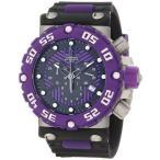 ショッピング円高還元 インヴィクタ 腕時計 Invicta 10042 メンズ サブアクア Nitro Diver クロノグラフ ブラック and パープル ダイヤル 腕時計