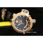 ショッピング円高還元 インヴィクタ 腕時計 Invicta 1575 サブアクア Noma III クォーツ ブラック ダイヤル ブラック レザー ストラップ メンズ 腕時計