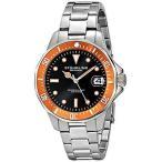 ショッピング円高還元 ストゥーリングオリジナル 腕時計 Stuhrling Original 664 04 メンズ アクアダイバー クォーツ オレンジ ベゼル Date Diver 腕時計