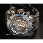 ショッピング円高還元 インヴィクタ 腕時計 Invicta サブアクア GMT クォーツ クロノグラフ ブルー ベゼル ブラック ストラップ Gunmetal メンズ 腕時計
