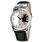 雅虎商城 - ストゥーリングオリジナル 腕時計 Stuhrling 165E 33152 メンズ Winchester Spire Mechanical スケルトン レザー 腕時計