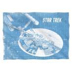 """ピローケース スタートレック Star Trek Classic Enterprise Blueprint Licensed Pillow Case  20"""" X 28"""""""