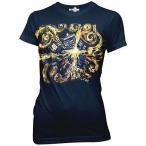 アメリカ人気キャラクター Tシャツ ドクターフー Doctor Who Van Gogh Exploding TARDIS Women's Juniors Navy Blue T-Shirt - Small