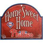 """ベースボール MLB 野球 アメリカ USA メジャー ウィンクラフト WinCraft Philadelphia Phillies 11"""" x 9"""" Home Sweet Home Sign"""