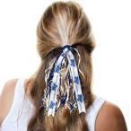ショッピングmiddle カレッジ NCAA 大学 アメリカ スポーツ USA ディバイン クリエイション  Middle Tennessee State Blue Raiders Women's RahRah Fantail Scrunchie