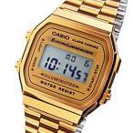 ショッピング円高還元 腕時計 カシオ Genuine Casio ビンテージ ステンレス スチール ゴールド 腕時計 A168WG-9WDF A168WG-9 A168WG-9W
