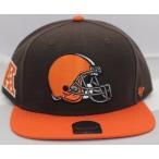 ショッピングブランド ストラップ 帽子 47 Brand Cleveland ブラウンズ ブラウン/オレンジ 47 ブランド ストラップback アジャスタブル ハット 帽子 キャップ