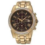 雅虎商城 - セイコー 腕時計 Seiko SSC314 Le Grand スポーツ メンズ ダイヤモンド ゴールド トーン ソーラー Chrongraph 腕時計