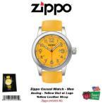 腕時計 ジッポ Zippo カジュアル メンズ 腕時計_アナログ_S ケース_YW ダイヤル w/ Logo & レザー ストラップ #45005-RG