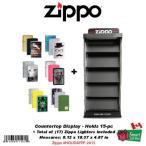 ジッポライター ジッポ Zippo 15-pc Countertop ディスプレイ ケース17 ライターズ Included #HOLIDAYPP-2015