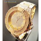 腕時計 テクノキング メンズ アイスアウト ブリング ヒップホップ テクノ キング ゴールド PT フェイクダイヤ ドレス ウォッチ