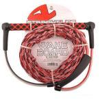 ロープ ハンドル - ストレート Line Wakeboard Rope SL Wake Combo (50'+5'+5'+5') レッド