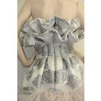 ワンピース アレキサンダーマックイーン Alexander McQUEEN Grey w pink nude ostrich feathers Gown DRESS 40 4