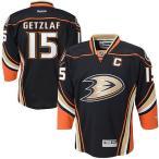 リーボック アイスホッケー NHL アメリカ USA 全米 ナショナルホッケーリーグ Ryan Getzlaf Anaheim Ducks Reebok ユース ブラック Home Premier Jersey