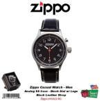 ジッポライター ジッポ - ウォッチーズ Zippo カジュアル メンズ 腕時計_BLK ダイヤル w/ Logo_SS ケース_BLK レザー ストラップ #45022-RG