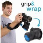 ショッピング写真 ストラップ カメラ 写真 フォトアクセサリー ストラップ ハンドグリップ miggo Grip Wrap DSLR Blue Black #MW GW SLR BB 70