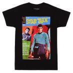 アメリカ人気キャラクター Tシャツ スタートレック Star Trek Legacy Of Lazarus Gold Key Comic Cover Licensed Adult T-Shirts - Black