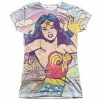 Yahoo!パンダストア海外テレビ コミックス ドラマ 映画 ゲーム Tシャツ トップス ウエア Wonder Woman Hometown Girl ライセンス ジュニア シャツ M