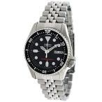 セイコー New Seiko ブラック ダイヤル オートマチック ダイバーズ メンズ 腕時計 SKX013K2