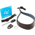 ショッピング写真 ストラップ カメラ 写真 フォトアクセサリー ストラップ ハンドグリップ4V Design Ergo Large Leather Wrist Strap with Universal Fit Kit Black Black