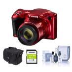 ショッピングデジタルカメラ カメラ 写真 デジタルカメラCanon PowerShot SX420 IS 20MP Digital Camera, Red W/ Free Accessory Bundle