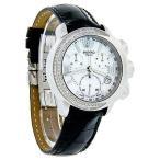 腕時計 ピッポ Pippo Italia Cabochon ダイヤモンド スイス クォーツ クロノグラフ Blk レザー 腕時計