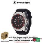 腕時計 フリースタイルウォッチーズ フリースタイル Diveハンマーhead FX メンズ 腕時計ブラック w/ レッド ダイヤル #FS84989