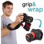 ショッピング写真 ストラップ カメラ 写真 フォトアクセサリー ストラップ ハンドグリップ miggo Grip Wrap DSLR Red Black #MW GW SLR BR 70
