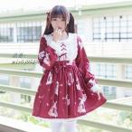ロリータ 可愛い ロリィタ 春夏 長袖 ワンピース かわいい 少女