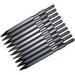 イリイ 電動ハンマー用 ブルポイントチゼル 六角軸 17H×280mm 10本セット