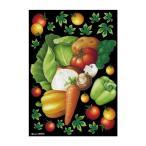 l返品不可lデコシールA4サイズ 野菜集合 チョーク 40272
