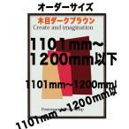 ポスターフレーム HTM711 木目ダークブラウン 【オーダーサイズ】 ポスターサイズ タテとヨコの長さの合計 1101から1200mm以下