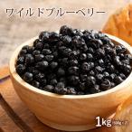 ブルーベリー ドライブルーベリー 野生種 1kg(500g×2) ドライ フルーツ  ワイルドブルーベリー アントシアニン お徳用 製菓材料  チャック付き トッピング