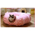 Panni 猫 トンネル 新作   猫 ハウス 遊び場 ドーム型ベッド猫じゃらし付き 折り畳み可 進化版