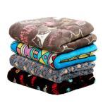 Panni 可愛い 象柄ペット犬 猫 フリース ブランケット暖かい ペット用ベッド マット クッション布団 秋冬防寒対策 2色セット