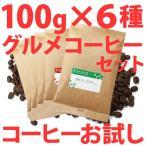ショッピングお試しセット コーヒー豆 お試し グルメコーヒーセット100g×6種類