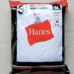 Hanes ヘインズ V首 紳士半袖アンダーシャツ、白Tシャツ 【お買得】ホワイト、5枚セット M  0830