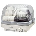 [山善] 食器乾燥器 (5人分) 120分 タイマー付き ホワイトグレー (自然対流式)(抗菌/防カビ) YD-180(LH) [メーカー保証1