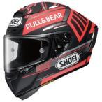 ショウエイ SHOEI  バイクヘルメット フルフェイス X-14 MARQUEZ BK CPT TC1 RED BLACK  L  頭囲 59 60cm  X-14