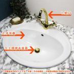 蛇口 洗面ボウル 排水金具 おしゃれ セット アンティーク調 Matilda アメイジア・ラバトリー(ブラス) ホワイティボウル010 クラシック 洗面所 洗面台