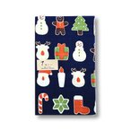 濱文様 捺染てぬぐい  手拭いクリスマスクッキー ゆうパケット対応