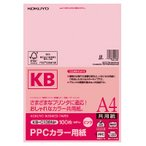 コクヨ (KB-C139NP) PPCカラー用紙(共用紙)(FSC認証) A4 100枚 64g平米 ピンク