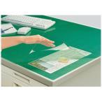 コクヨ (マ-1227NG) デスクマット軟質Wエコノミー 塩ビ製 緑 透明 下敷き付 1200×700デスク用
